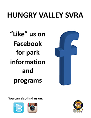 Hungry Valley SVRA Facebook Flyer