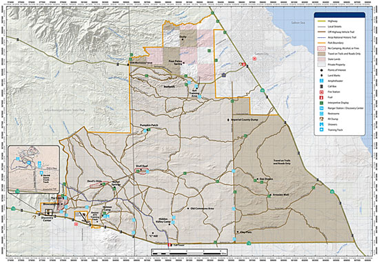 Image of Ocotillo Wells SVRA map